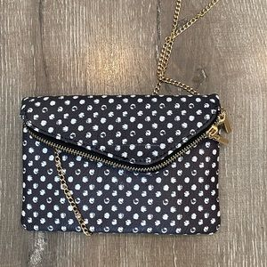 MMS Polka Dot Crossbody Chain zip up bag